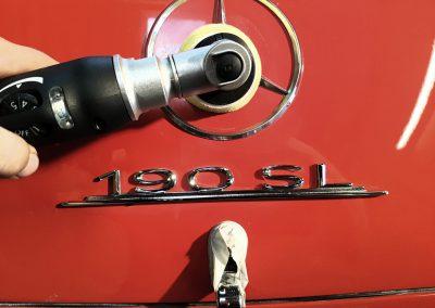 Mercedes 190SL richtig polieren