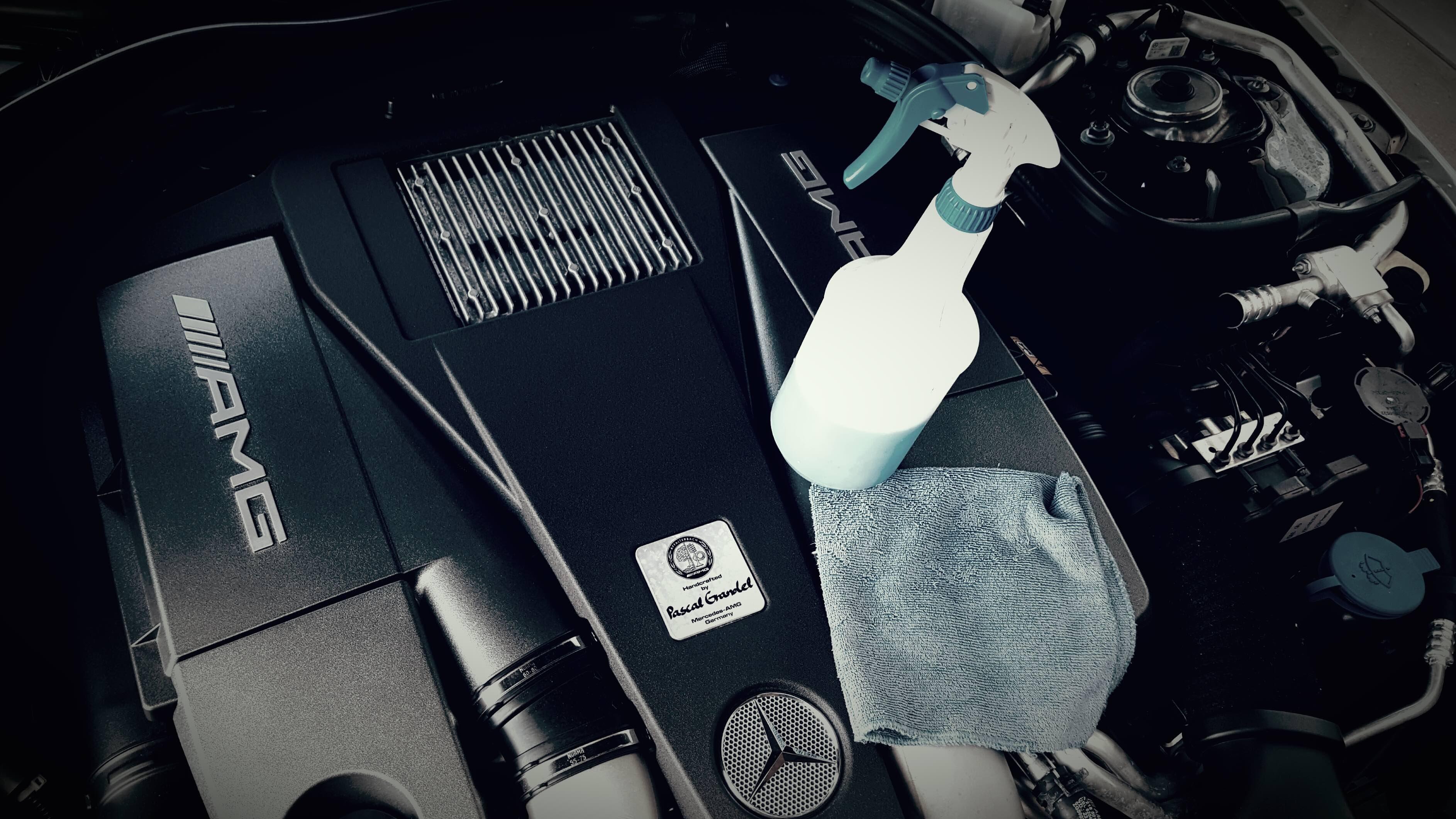 V8 BiTurbo - Motorraum Reinigung